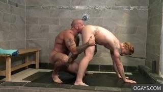 Red Haired Stud Bennett Anthony Gets a Surprise Visit at the Shower by Sean Duran