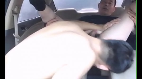 Chinese gay sex in the car